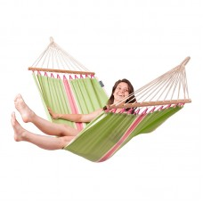 LA SIESTA® Fruta Kiwi - Weather-Resistant Single Spreader Bar Hammock