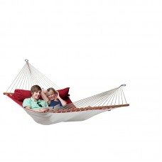 LA SIESTA® Alabama Red Pepper - Quilted Kingsize Spreader Bar Hammock