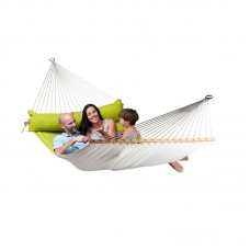 LA SIESTA® Alabama Avocado - Quilted Kingsize Spreader Bar Hammock