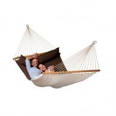 LA SIESTA® Alabama Arabica - Quilted Kingsize Spreader Bar Hammock