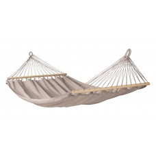 LA SIESTA® Alisio Almond - Weather-Resistant Double Spreader Bar Hammock