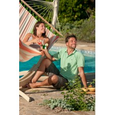 LA SIESTA® Colada Mango - Weather-Resistant Double Spreader Bar Hammock