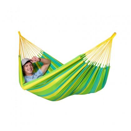 LA SIESTA® Sonrisa Lime - Weather-Resistant Single Classic Hammock