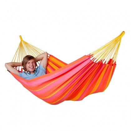 LA SIESTA® Sonrisa Mandarine - Weather-Resistant Single Classic Hammock