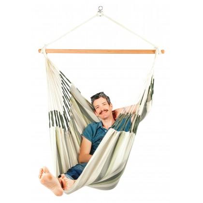 LA SIESTA® Domingo Cedar - Weather-Resistant Comfort Hammock Chair