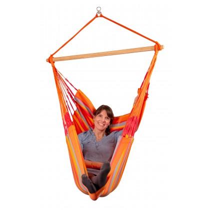 LA SIESTA® Domingo Toucan - Weather-Resistant Comfort Hammock Chair