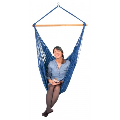 LA SIESTA® Domingo Marine - Weather-Resistant Comfort Hammock Chair