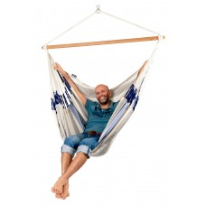 LA SIESTA® Domingo Sea Salt - Weather-Resistant Kingsize Hammock Chair