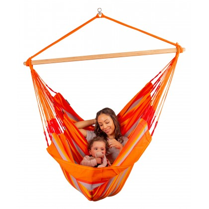LA SIESTA® Domingo Toucan - Weather-Resistant Kingsize Hammock Chair