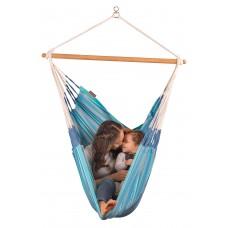 LA SIESTA® Habana Azure - Organic Cotton Comfort Hammock Chair