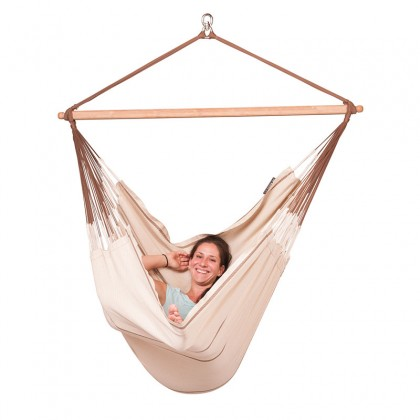 LA SIESTA® Habana Nougat - Organic Cotton Kingsize Hammock Chair