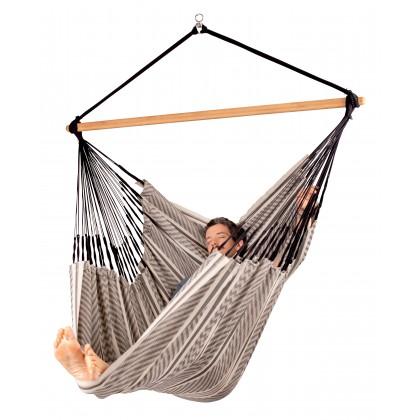 LA SIESTA® Habana Zebra - Organic Cotton Kingsize Hammock Chair