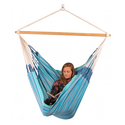 LA SIESTA® Habana Azure - Organic Cotton Kingsize Hammock Chair