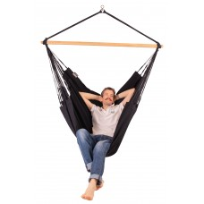 LA SIESTA® Habana Onyx - Organic Cotton Kingsize Hammock Chair