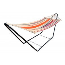 CHILLOUNGE® Sunrise - Single Spreader Bar Hammock with  Powder Coated Steel Stand