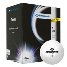 1-T 40+ Bordtennisball Poly 120 stk. White