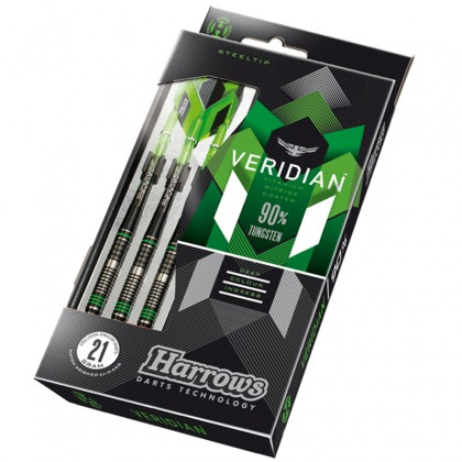 Harrows Dart Arrows Steeltip Veridian 90% Tungsten