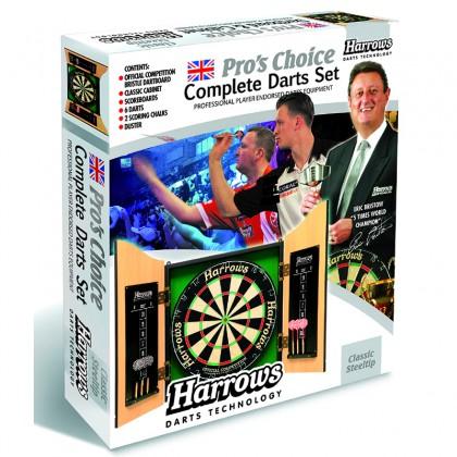 Harrows Pro's Choice Sett - Skap Bristle skive og Dartpiler